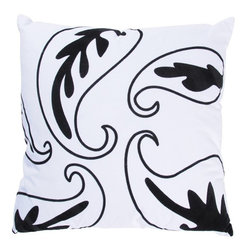 Rizzy Home - White and Black Decorative Accent Pillows (Set of 2) - T03048 - Set of 2 Pillows.