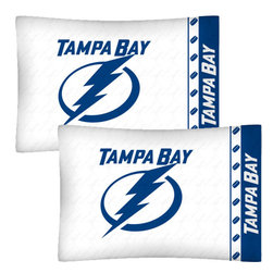 Store51 LLC - NHL Tampa Bay Lightning Hockey Set of 2 Logo Pillow Cases - FEATURES: