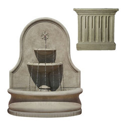 Campania International - Estancia Wall Fountain - Verde (VE) - 898 lbs. Shipping is available throughout the continental United States. As these fountains are made to order,_please allow 4 to 6 weeks for delivery. Drop ship is curbside delivery only.