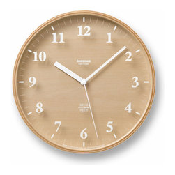 Summer Wall Clock - Keep track of your time with this delightfully minimalist Japanese-designed wall clock. The white color of the hour markers complements the natural beauty of the plywood. Made with a modern look, the clock is perfect for offices and homes alike.