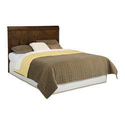 Home Styles - Home Styles Paris Queen Headboard in Mahogany - Home Styles - Headboards - 5540501 - Home Styles Paris Queen Headboard is constructed of mahogany solid hardwoods with Zebra wood and mahogany veneers in a multi-step mahogany finish. The headboard can attach to most queen bed frames.