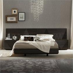 Sapphire Platform Bed in Dark Walnut Finish -