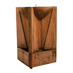 Trophy Outdoor Fountain, Absolute - The name says it all, a Trophy piece. The fountain gives a large appearance but suited to fit in to smaller areas with its width and depth at only 29 inches.