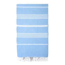 Turkish Towel, Bright Blue - Take your guest bathroom from drab to fab with this lively Turkish towel. Besides, periwinkle is one of my favorite pastels!