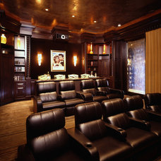 Mediterranean Home Theater by Cullum Homes and  Renovations