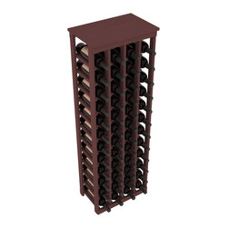 "Wine Racks America - 48 Bottle Kitchen Wine Rack in Ponderosa Pine, Walnut Stain - Store 4 complete cases of wine in less than 20"" of wall space. Just over 4 feet tall, this narrow wine rack fits perfectly in hallways, closets and other ""catch-all"" spaces in your home or den. The solid wood top serves as a shelf or table top for added convenience and storage of nick-nacks."