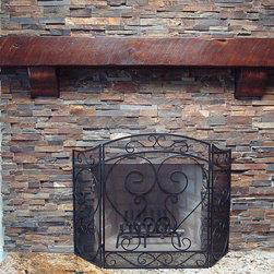 Fireplace Mantels and Surrounds - Rustic Fireplace mantel