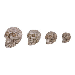 GSC - Skull Collection Nesting Box Set of Four Skulls White Collectibles - This gorgeous Skull Collection Nesting Box Set of Four Skulls White Collectibles has the finest details and highest quality you will find anywhere! Skull Collection Nesting Box Set of Four Skulls White Collectibles is truly remarkable.