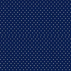 """SheetWorld - SheetWorld Round Crib Sheets - Primary Pindots Navy Woven - Made in USA - This luxurious 100% cotton """"woven"""" round crib sheet features white pindots on a solid navy background. Our sheets are made of the highest quality fabric that's measured at a 280 tc. That means these sheets are soft and durable. Sheets are made with deep pockets and are elasticized around the entire edge which prevents it from slipping off the mattress, thereby keeping your baby safe. These sheets are so durable that they will last all through your baby's growing years. We're called SheetWorld because we produce the highest grade sheets on the market today."""