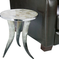 Z Gallerie - Cheyenne Horn Accent Table - Natural horns make up the base of this polished accent table. It's a steal from Z Gallerie.
