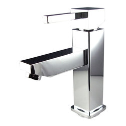 Fresca - Fresca Bevera Single Hole Mount Bathroom Vanity Faucet - Chrome - This single hole faucet is made from heavy duty brass with a chrome finish.  Features ceramic mixing valve for longevity and watertight functionality.