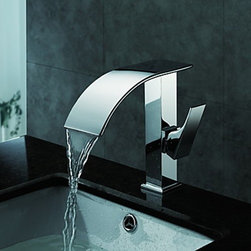 Bathroom Sink Faucets - Contemporary Waterfall Bathroom Sink Faucet(Chrome Finish)