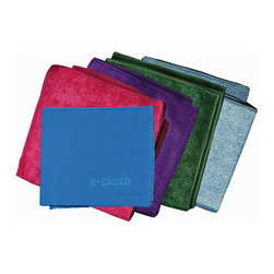 e-cloth - e-Cloth Starter Pack - 5pk - Say goodbye to chemical cleansers and hello to a healthier way of cleaning. This e-cloth starter kit includes four 12.5-inch square general purpose cleaning cloths, capable of eliminating dirt, grease and 99 percent of bacteria from surfaces with just the use of water. Also included is one glass and polishing cloth, which will keep your glass and mirrors free of streaks, spots and fingerprints.