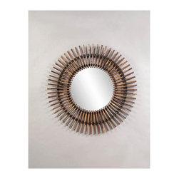 Bassett Mirror - Taipan Natural Bamboo Sunburst Wall Mirror - Taipan Natural Bamboo Sunburst Wall Mirror by Bassett Mirror
