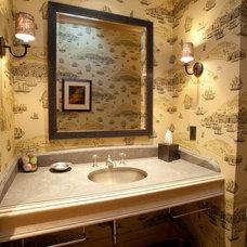 Traditional Powder Room by AM Interior Design