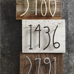 Forged Iron House Numbers - Let your guests be impressed with your unique style before they even enter your home by adorning your front door with these handcrafted forged iron house numbers! Numbers from 0 to 9 are offered in three finish options: brass, nickel and antique iron.
