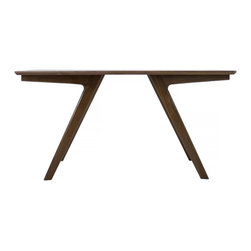 Moderncre8ve - Boomerang Walnut Dining Table - The Boomerang-Mid Century Modern Dining Table / Desk