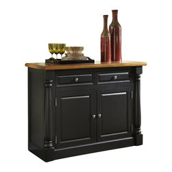 Home Styles - Home Styles Monarch Buffet in Black and Oak Finish - Home Styles - Buffet Tables and Sideboards - 500861