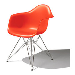 Herman Miller - Eames Molded Plastic Armchair - Add some punch to a modern family room with a red Eames chair. They're suitable for adults and kids alike.