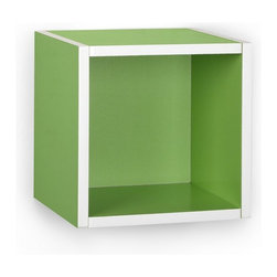 Way Basics - Way Basics Eco Wall Cube Shelf, Green - Storage Cubes specifically designed to hang on a wall? You asked, and we listened! Your favorite organizational solution has grown wings! Our new Wall Cubes maintain the simple design and functionality of the cube, but can now help you organize your wall space!