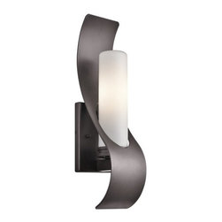 "Kichler - Kichler 49149AZ Zolder Collection 1 Light 17"" Outdoor Wall Light - Kichler 49149 Zolder Outdoor Wall Light"