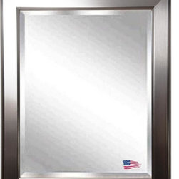 Rayne Mirrors - American Made Silver Rounded Beveled Wall Mirror - This contemporary, round edge silver frame is the perfect compliment to the ever timeless wall mirror. Rayne's American Made standard of quality includes; metal reinforced frame corner  support, both vertical and horizontal hanging hardware installed and a manufacturers warranty.