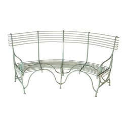 MIDWEST CBK - Distressed Green Curved Garden Bench - Distressed Green Curved Garden Bench. Shop home furnishings, decor, and accessories from Posh Urban Furnishings. Beautiful, stylish furniture and decor that will brighten your home instantly. Shop modern, traditional, vintage, and world designs.