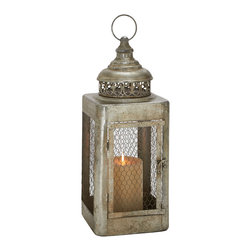 Classic and Unique Styled Metal Candle Lantern - Description: