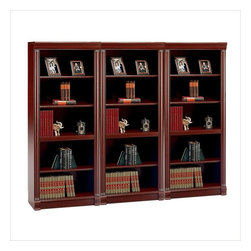 Bush - Bush Birmingham 5 Shelf Wall Bookcase in Harvest Cherry - Bush - Bookcases - WL2666503PKG - Bush Birmingham 5 Shelf Wood Bookcase in Harvest Cherry