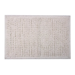Jovi Home - Knitted Chenille Cotton Bath Mat - This rug comes in an elegant knitted design. Woven with a soft chenille of 100-percent cotton, the plushy solid rug is extremely absorbent.