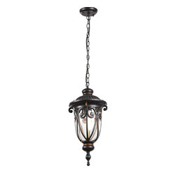 Outdoor 0519 Metal and Glass Pendant Lighting -