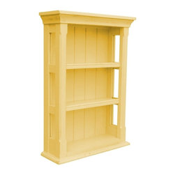 EuroLux Home - New Wall Cabinet Yellow Painted Hardwood - Product Details