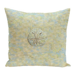 E by Design - E by Design LPC Coastal Sanddollar Decorative Throw Pillow - LPC-N8-NATURAL_SAND - Shop for Pillows from Hayneedle.com! Show that beachcombers live here with the E by Design LPC Coastal Sanddollar Decorative Throw Pillow. A detailed print of a sand dollar image in shades of grey adorns this high-end pillow. The zippered cover removes easily for cleaning.