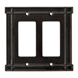 Liberty Hardware - Liberty Hardware 144079 Arts & Crafts WP Collection 5.16 Inch Switch Plate - A simple change can make a huge impact on the look and feel of any room. Change out your old wall plates and give any room a brand new feel. Experience the look of a quality Liberty Hardware wall plate. Width - 5.16 Inch, Height - 4.88 Inch, Projection - 0.24 Inch, Finish - Soft Iron, Weight - 0.5 Lbs.
