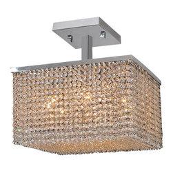 Worldwide Lighting - Worldwide Lighting W33734C16 Prism 9 Light Semi-Flush Ceiling Fixture - Features: