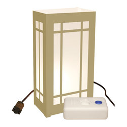 LumaBase Luminarias - Electric Luminaria Kit with LumaBases Lantern - Electric luminarias will create festive lighting for your special event. They are weather resistant, so they can be enjoyed for many seasons. Simply stretch the 30-ft lights cord and position each of the light bulbs through the hole in the back of each lantern. The anchor stakes will secure the lantern into the ground. The included LumaBases are a weighted base that will weight the lantern on hard surfaces.They can be used indoors or out. The durable lanterns assemble easily and fold flat for compact storage. Included: 10 Plastic Lanterns, 10 C7-5 Watt Bulbs, 1 UL Listed 30' Electric Cord with End to End Connectors, 10 Anchor Stakes, 10 LumaBases