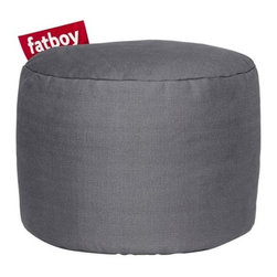 """Fatboy - Fatboy Point Stonewashed Ottoman by Fatboy - So, what's the Point? The Fatboy Point Stonewashed Ottoman is a supportive foot rest, a petite bedside table or a convenient extra seat. It is covered in soft, easy-to-clean 100% stonewashed cotton that's available in a versatile range of colors. That's the Point. In 1988, Dutch designer Jukka Setala came up with an ingenious way to make the bean bag chair much more luxurious, durable and adaptable than its 1970s ancestor. Fast forward to 2002, when Alex Bergman adopted Setala's idea of the modern lounge chair and launched """"Fatboy the Original."""" Fatboy now offers a range of fun and functional modern accessories and pet beds."""