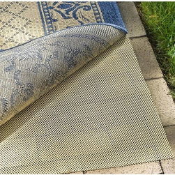 Safavieh - Exterior Non-slip Rug Pad (6' x 9') - This non-slip area rug pad will help keep your exterior mat from bunching up or causing any falls or spills. The open-weave pad fits underneath your outdoor floor covering and is designed to help air circulate, allowing your rug to dry quickly.