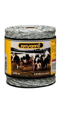 PARKER MCCRORY MFG. CO. - 679 400M 1312 Ft. White Baygar Wire - Baygard electric fence wire