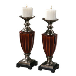 Bay Ceramic Candleholders, Set of 2