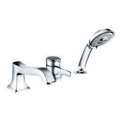 Hansgrohe - Hansgrohe 4132000 Metris C 3 Hole Tub filler - Trim, 3-Hole Thermostatic Tub Filler