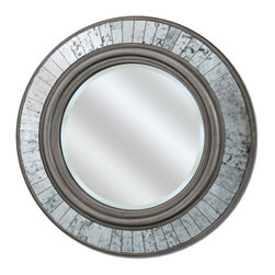 Paragon - Round Silver Sparkle - Mirrors Decorative - Each product is custom made upon order so there might be small variations from the picture displayed. No two pieces are exactly alike.