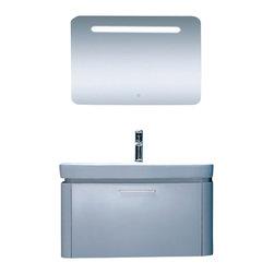 Adornus - Adornus CHLOE-32-HGW-C White Vanity - * Wall Mounted High Gloss 1 Deep Drawer