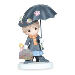 Precious Moments - Precious Moments You're Practically Perfect In Every Way Figurine - Celebrate nostalgia with this Precious Moments You're Practically Perfect In Every Way figurine. This adorable sculpture pays tribute to Mary Poppins.