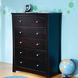 Ocean 6-Drawer Chest - •4 large roomy drawers featuring two small accessories drawers on top