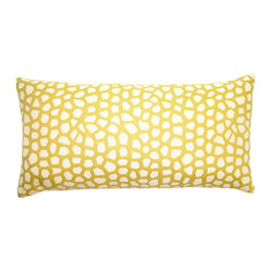 Butter-Yellow Giraffe Pillow