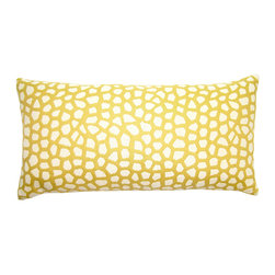 "Square Feathers - Sheldon Giraffe Pillow - A giraffe's pattern isn't as well known as many of its animal counterparts, so when done in different tones it doesn't immediately scream ""animal print."" The look feels inspired by nature, but not at all jungle themed."