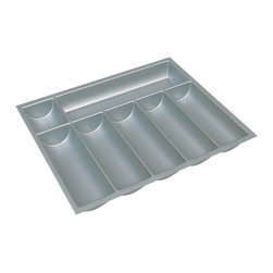 Hafele - 8 in. Cutlery Tray in Silver - Can be trimmed to fit drawer.