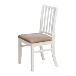 Jofran - Jofran Aspen Stephie Side Chair with Slat Back in White [Set of 2] - Painted engineered wood, solid Asian hardwood. Aspen white finish.