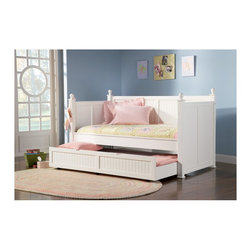 "Coaster - ""Coaster Daybed, White - 2 pk."" - ""This beautiful daybed will be a lovely addition to the youth or spare bedroom in your home. The high headboard, footboard, and back feature a slat design with simple molding, square posts, and classic round finials. The twin size bed is multifunctional, offering a comfortable place to lounge and read, and a great sleeping spot by night. A convenient trundle below makes is simple to accommodate overnight guests. This daybed is offered in a clean semi-gloss white finish or rich satin black. This classic daybed will be a wonderful addition to your home.Finish/Color: (Semi-Gloss White)Innerspring Mattress RequiredAssembly Required: YesMade in Vietnam"""